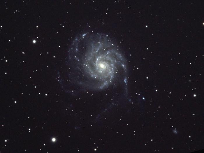 Спиральная галактика М101 в Большой Медведице