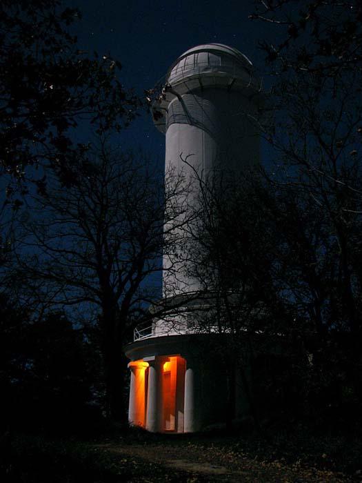 Солнечный телескоп ночью