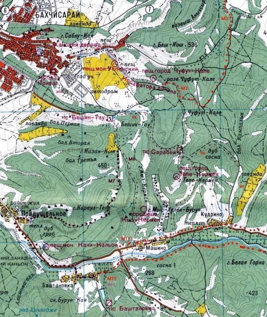Карта окрестностей Тепе-Кермена
