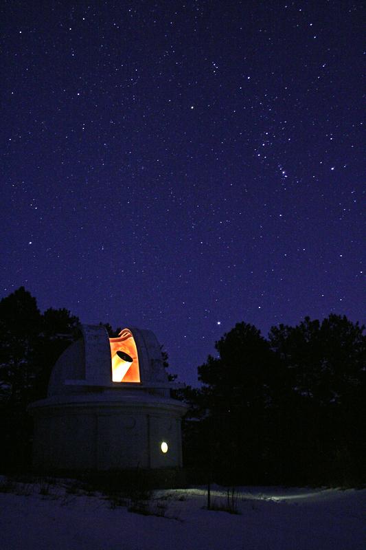 Орион и телескоп