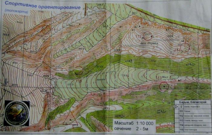 Карта ориентирования в районе 110 КП