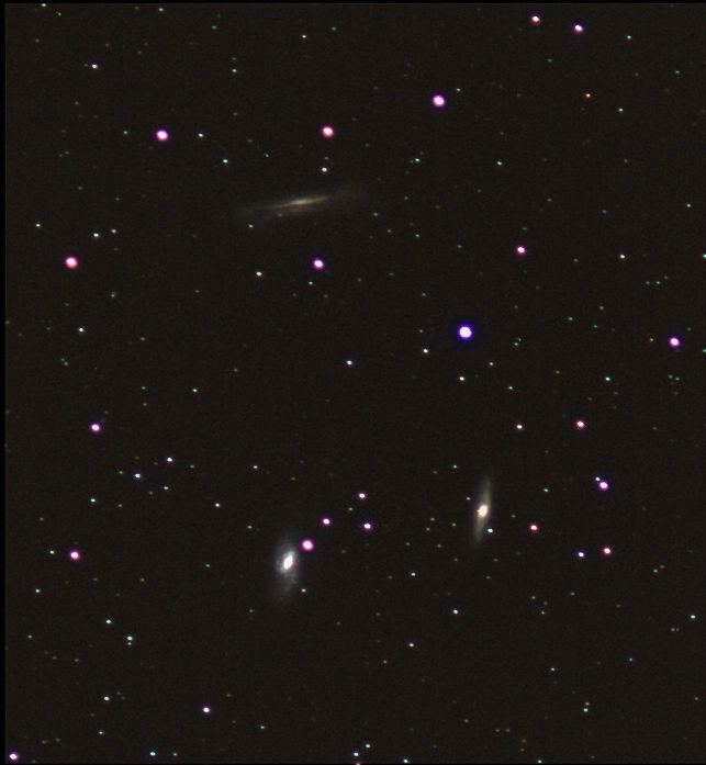 Галактики M66-65 и NGC3628