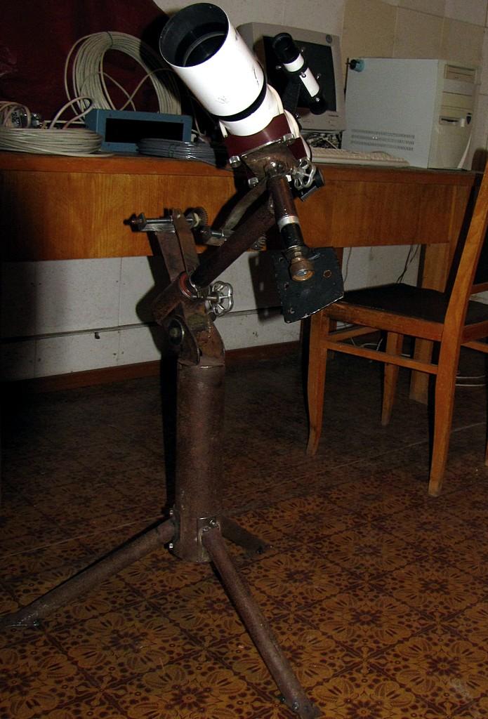 Рефрактор 90мм на малой монтировке